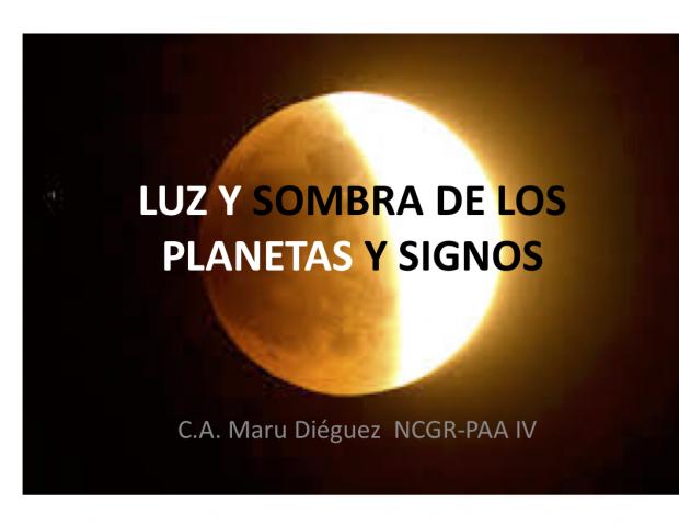 Luz y sombra de los planetas y signos
