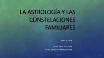 Astrología y constelaciones familiares