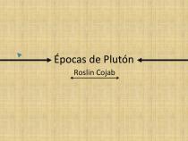 Épocas de Plutón