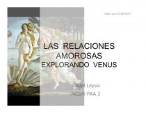 Las Relaciones Amorosas. Explorando Venus