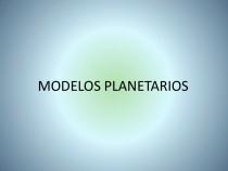 Modelos planetarios